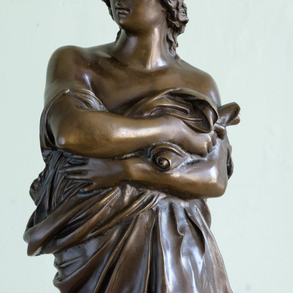 Bronze of Virgil holding a copy of the Aeneid,-103518