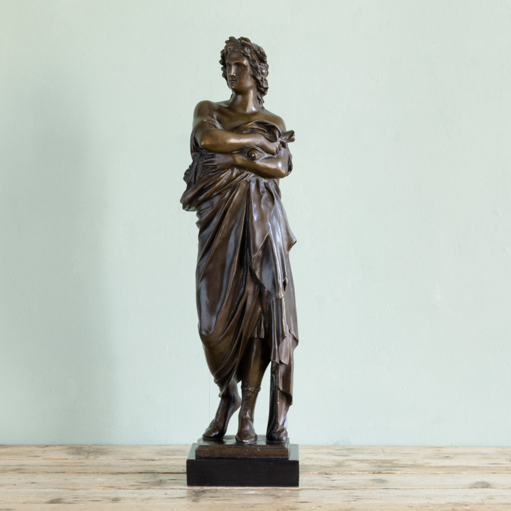 Bronze of Virgil holding a copy of the Aeneid,-0