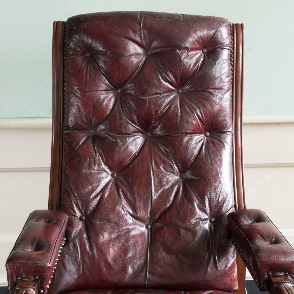 William IV mahogany reclining reading chair,-103524