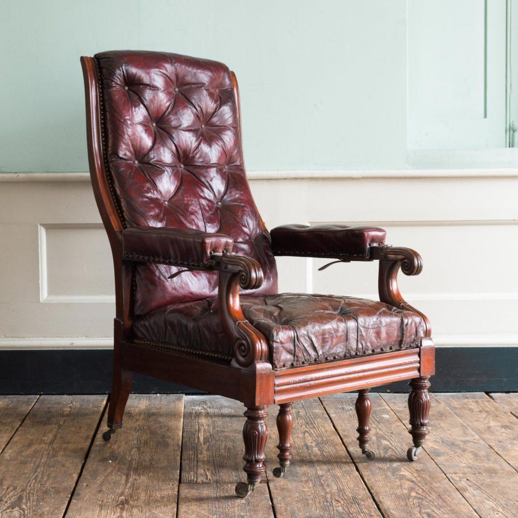 William IV mahogany reclining reading chair,-0