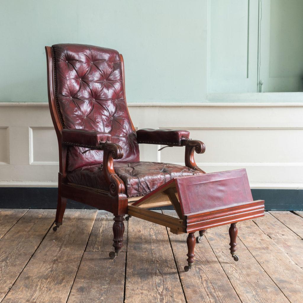 William IV mahogany reclining reading chair,-103526