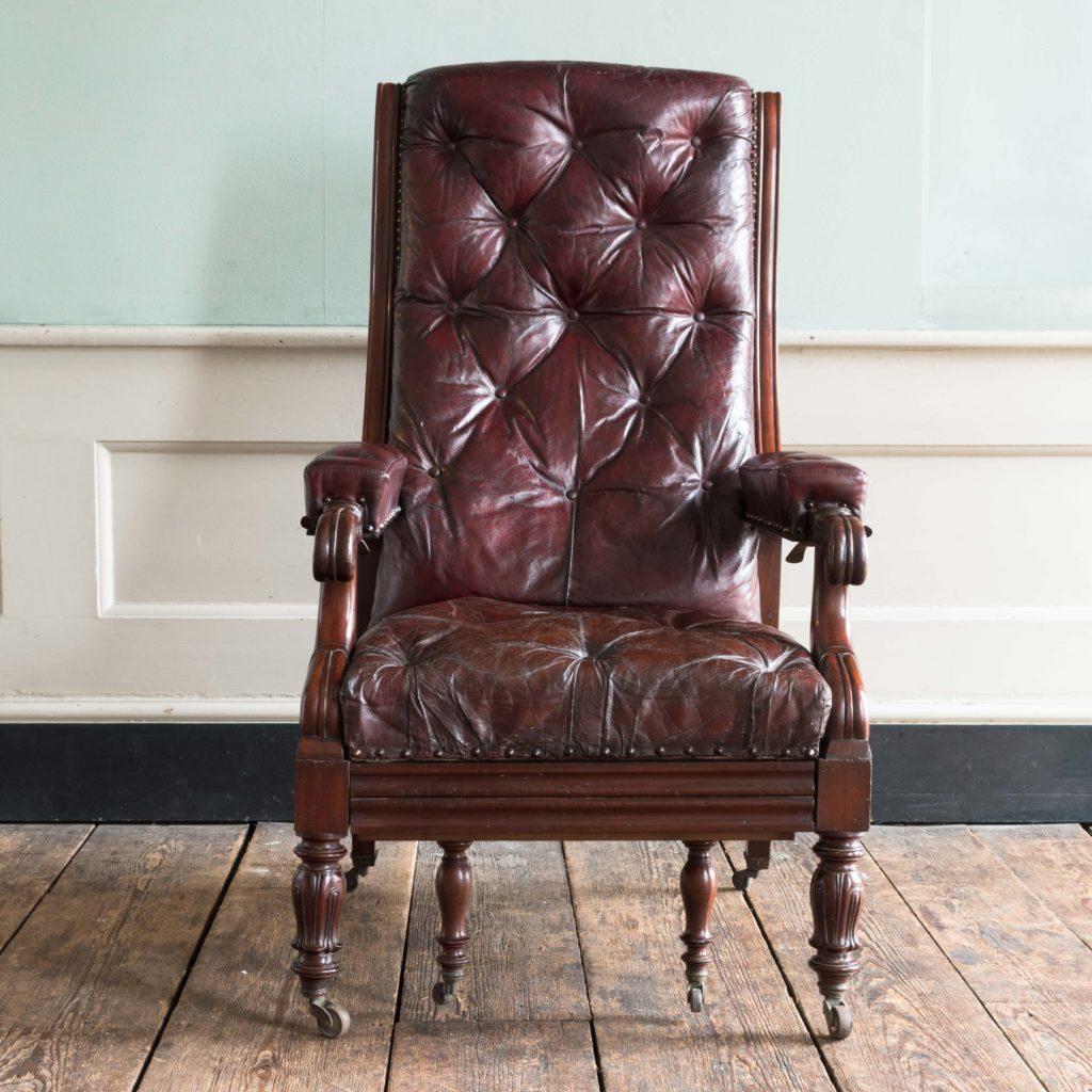 William IV mahogany reclining reading chair,-103532