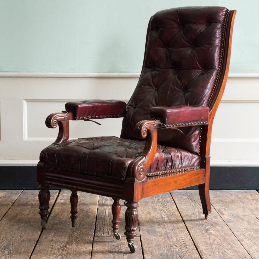 William IV mahogany reclining reading chair,-103527