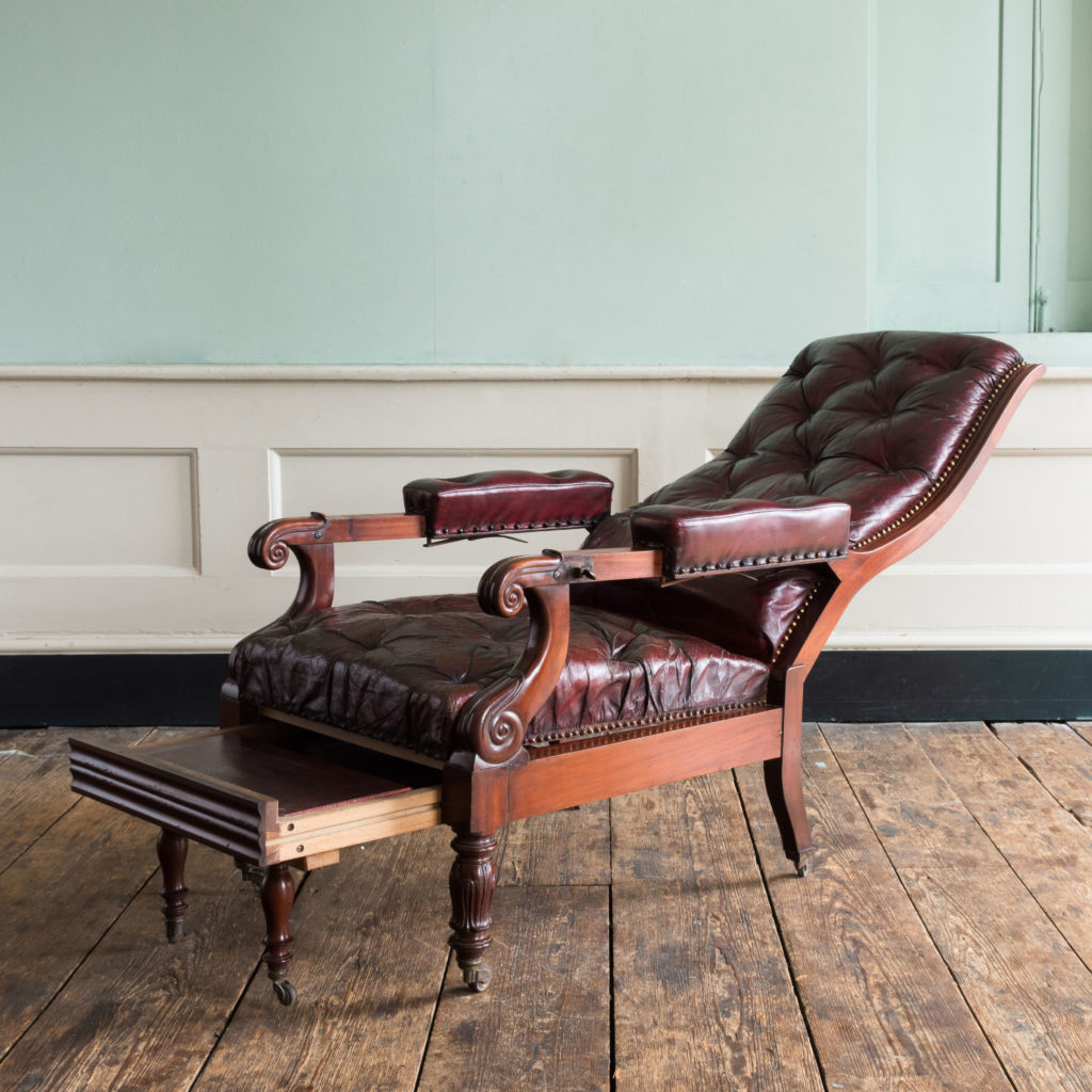 William IV mahogany reclining reading chair,-103525
