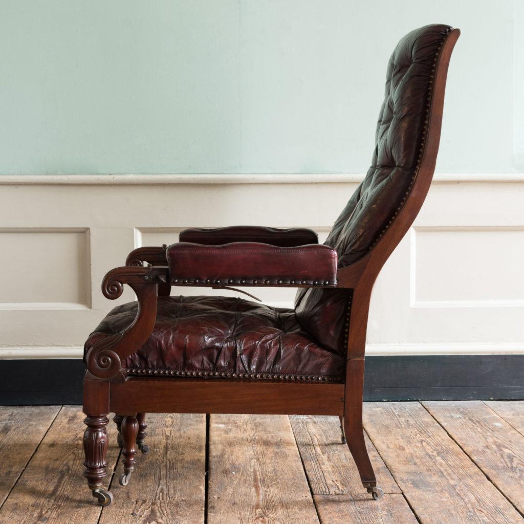 William IV mahogany reclining reading chair,-103528