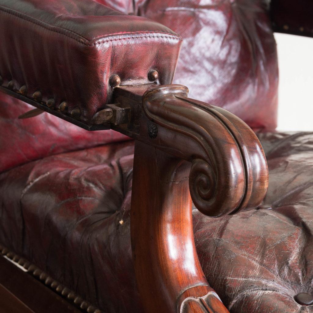 William IV mahogany reclining reading chair,-103536