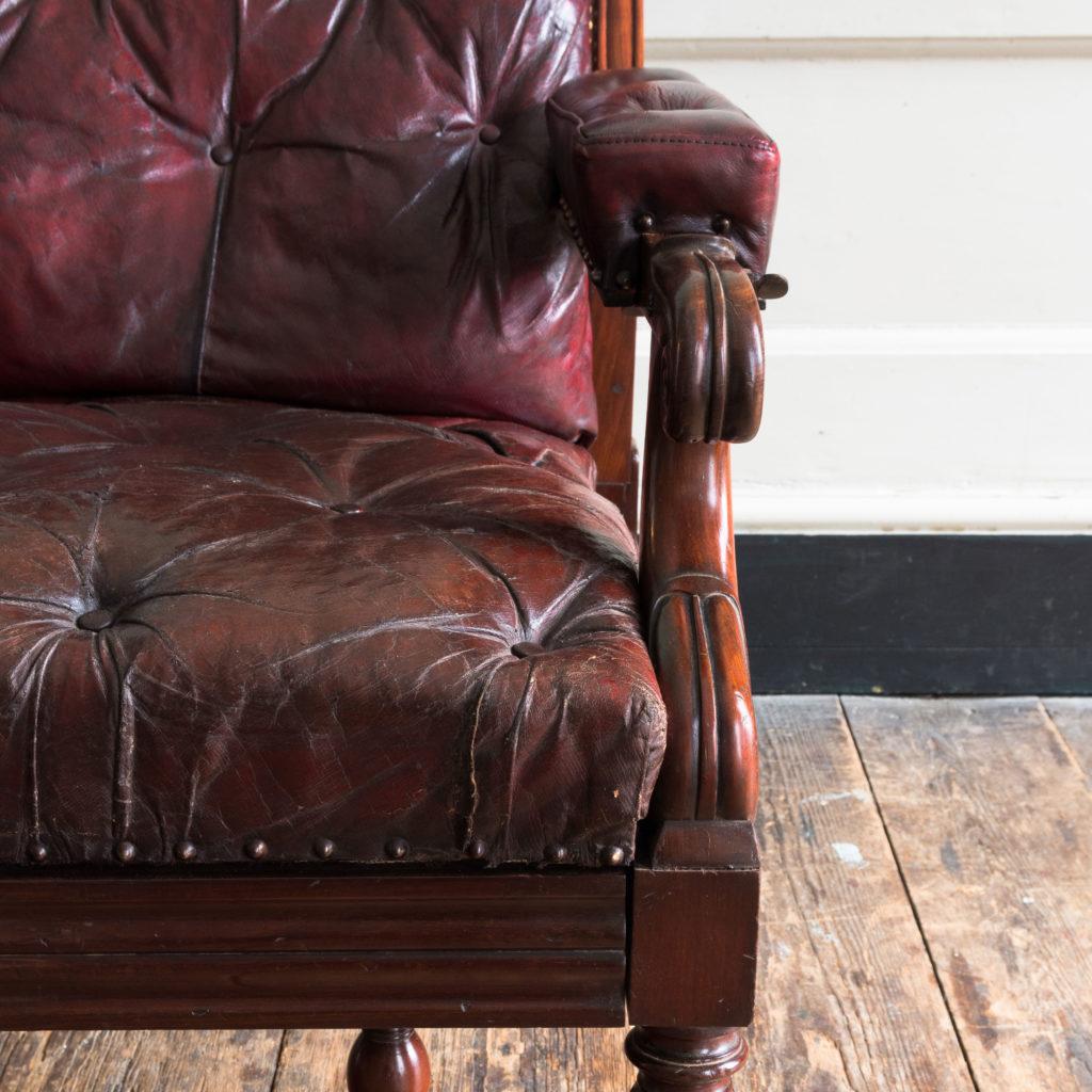 William IV mahogany reclining reading chair,-103529