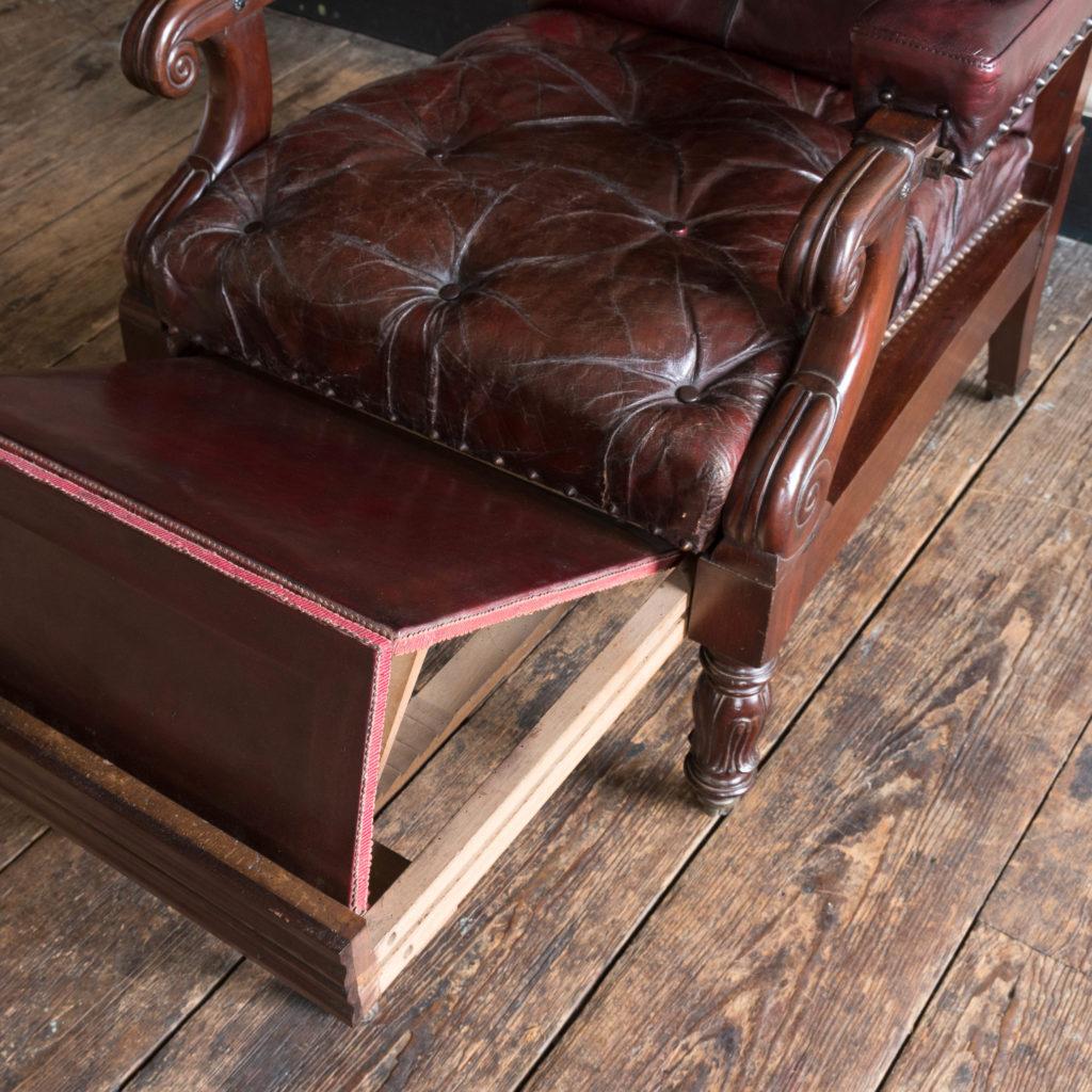 William IV mahogany reclining reading chair,-103531