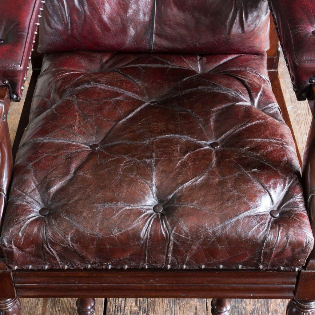 William IV mahogany reclining reading chair,-103530