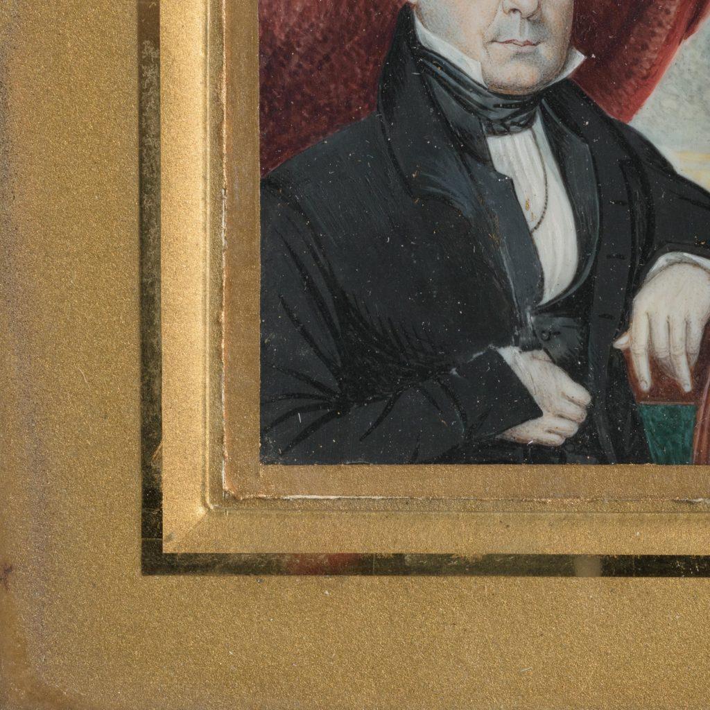 Portrait miniature of a gentleman,-104321