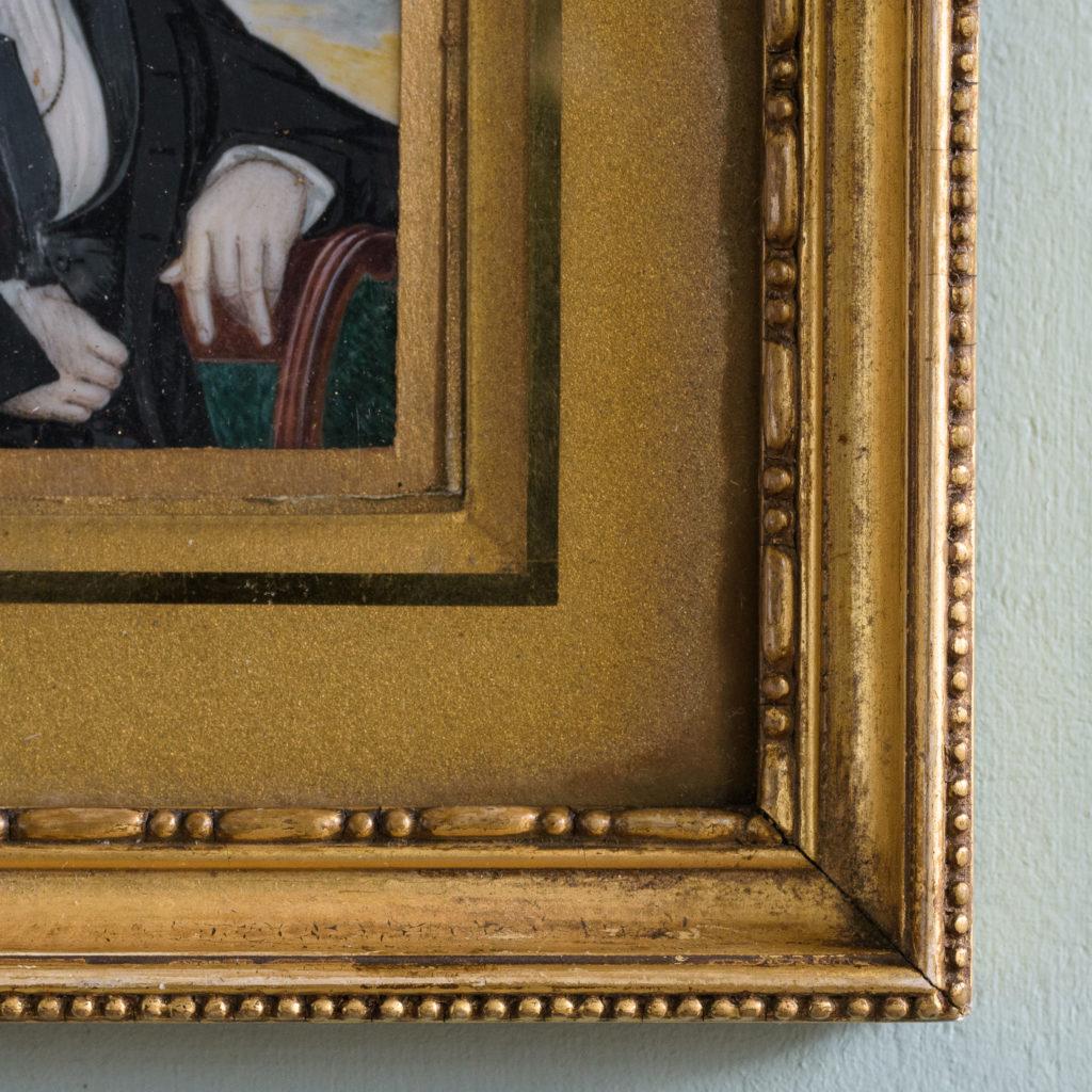 Portrait miniature of a gentleman,-104316
