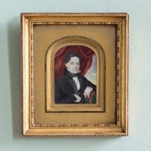 Portrait miniature of a gentleman,-0