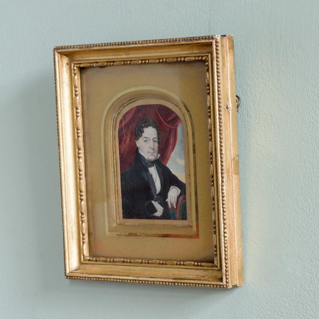 Portrait miniature of a gentleman,-104318