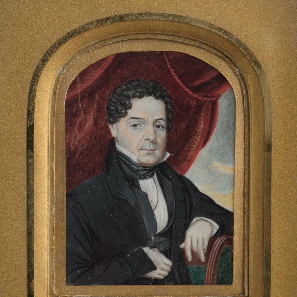 Portrait miniature of a gentleman,-104320