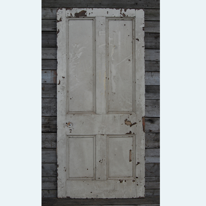 A Victorian four-panelled painted pine door,-0