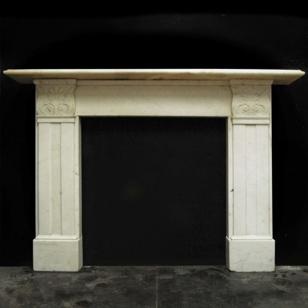 A William IV statuary white marble chimneypiece-0