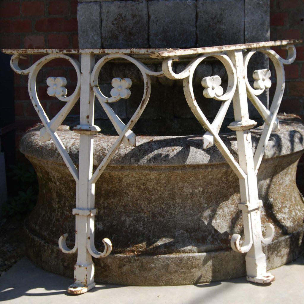 A pair of Victorian cast iron brackets-0