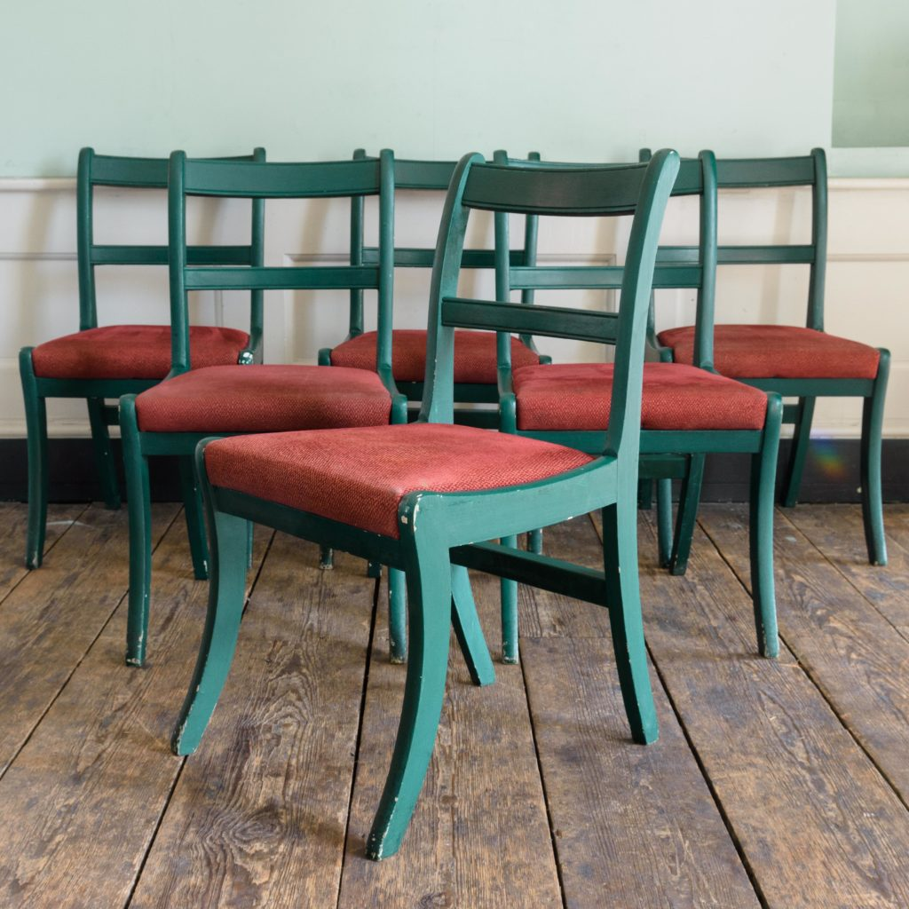 Green's of St James Regency style dining chairs,-0