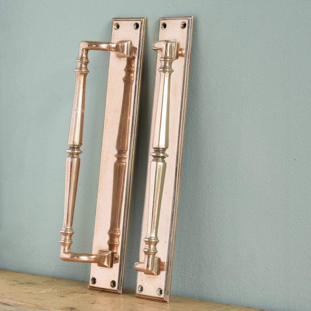 Pair of Edwardian bronze door pulls,-104921