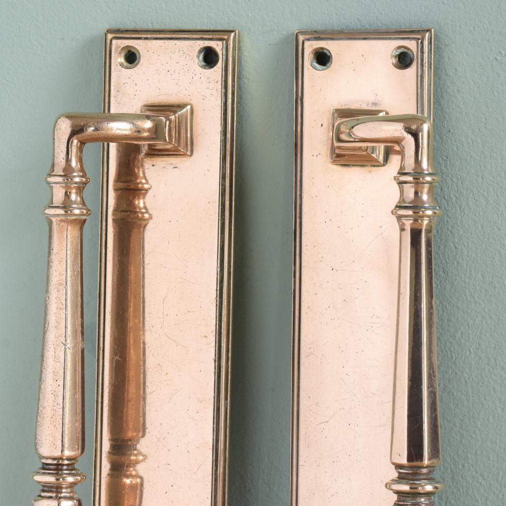 Pair of Edwardian bronze door pulls,-104925