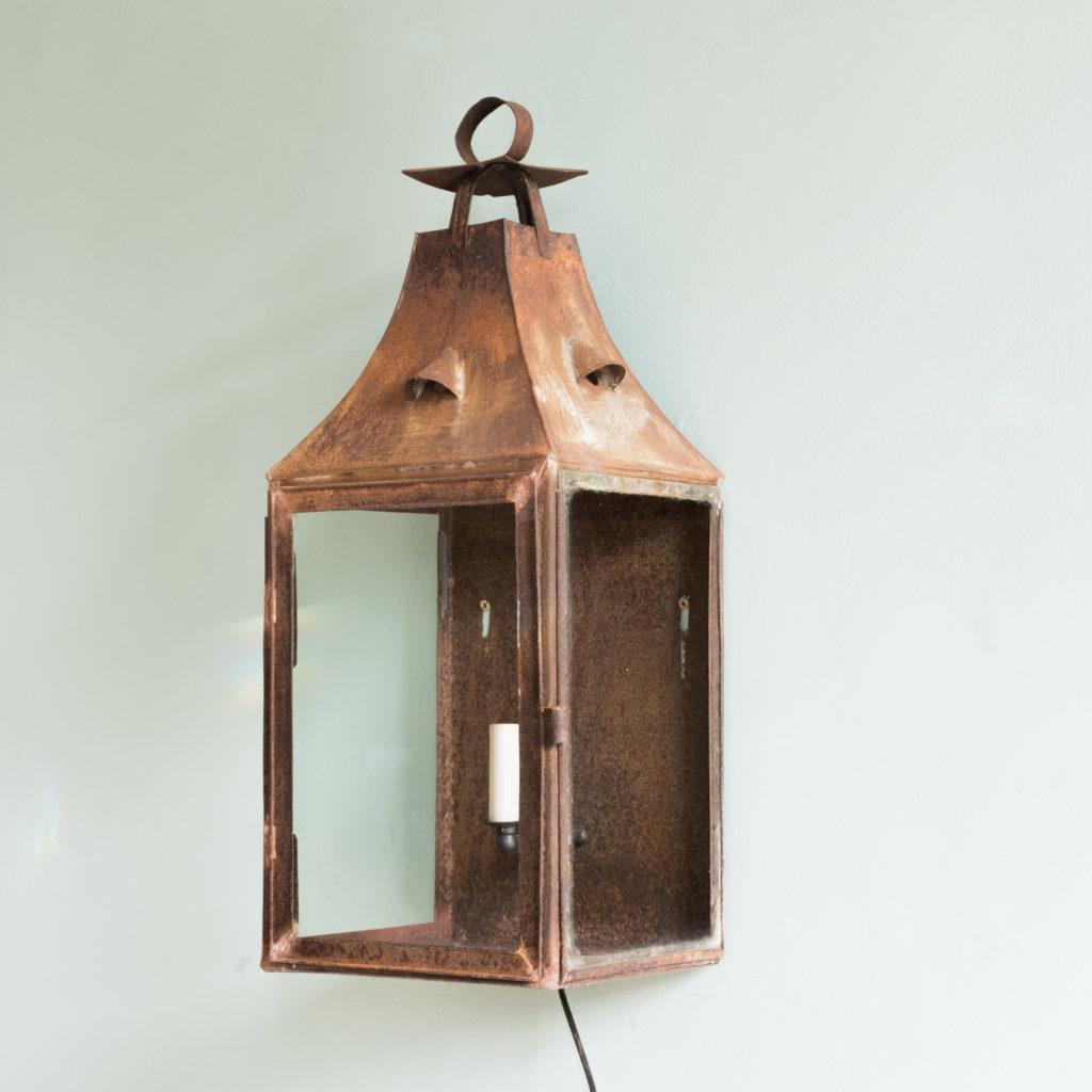 French nineteenth century wall lantern,-104640