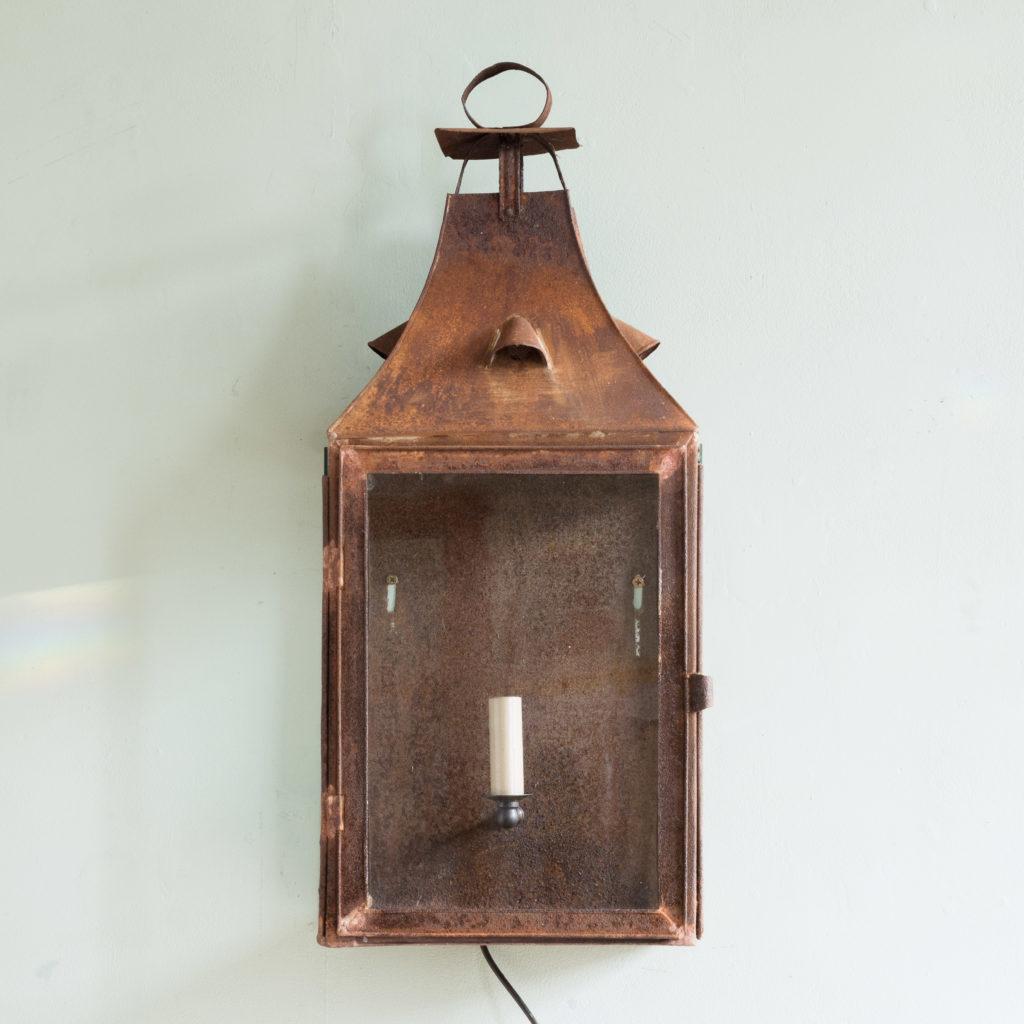French nineteenth century wall lantern,-104642