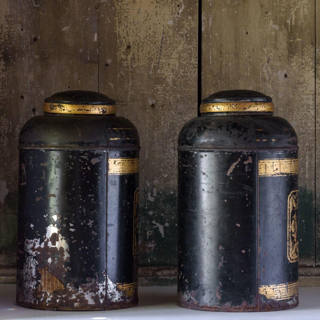 Late nineteenth century toleware tea canisters,-105116