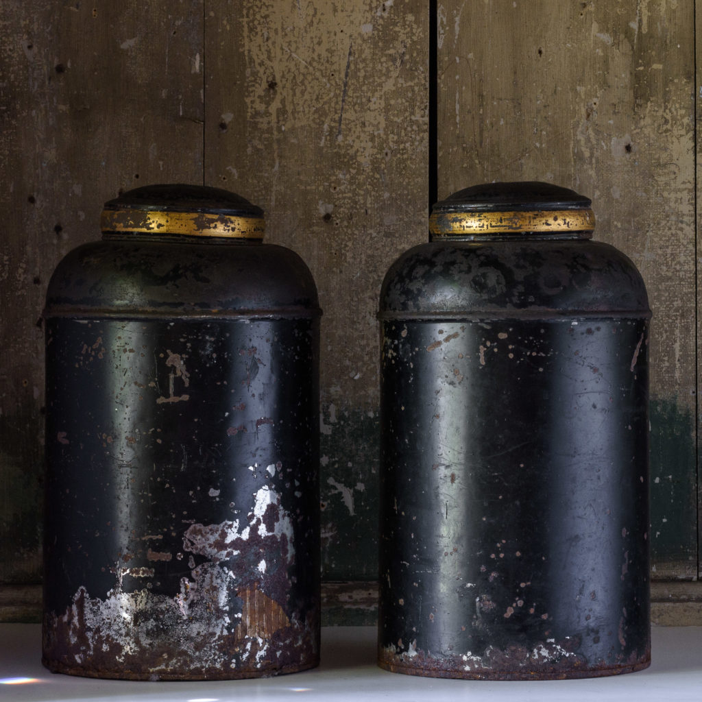 Late nineteenth century toleware tea canisters,-105114