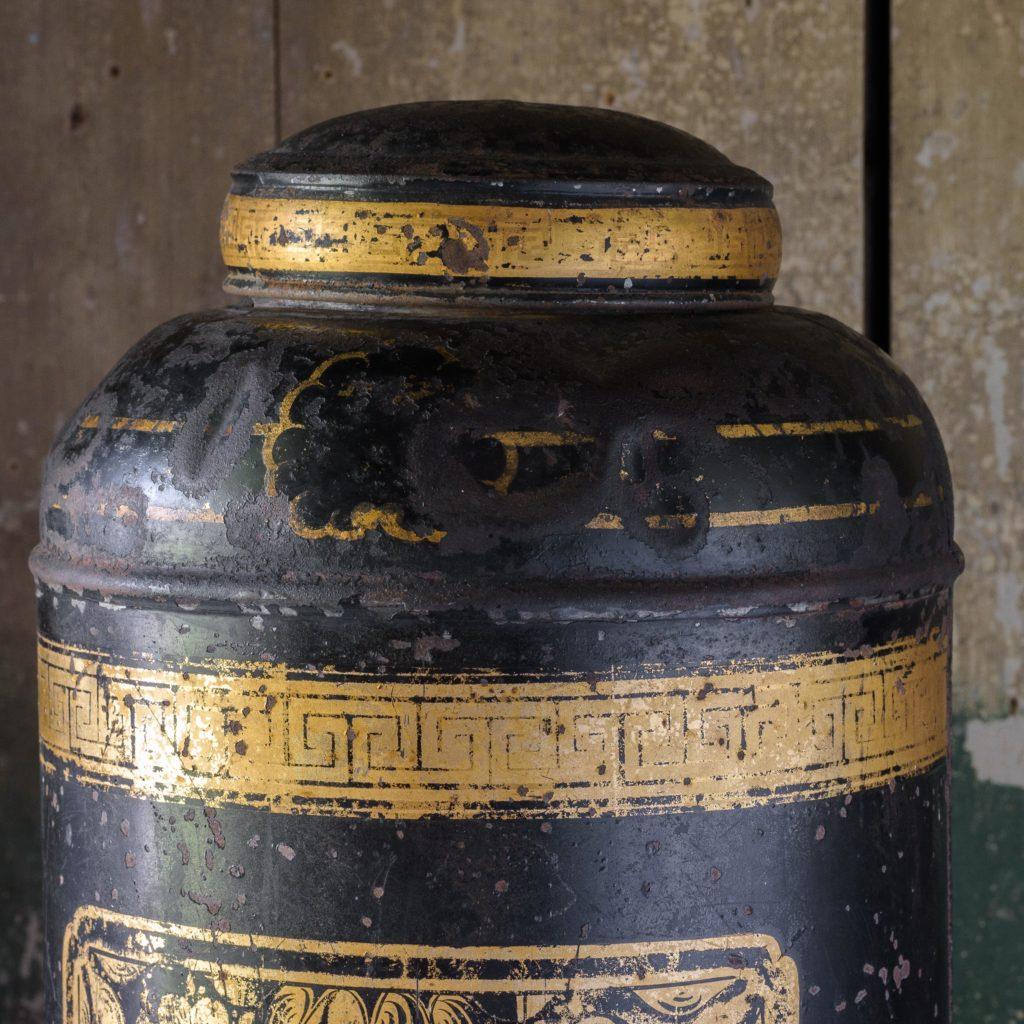 Late nineteenth century toleware tea canisters,-105112