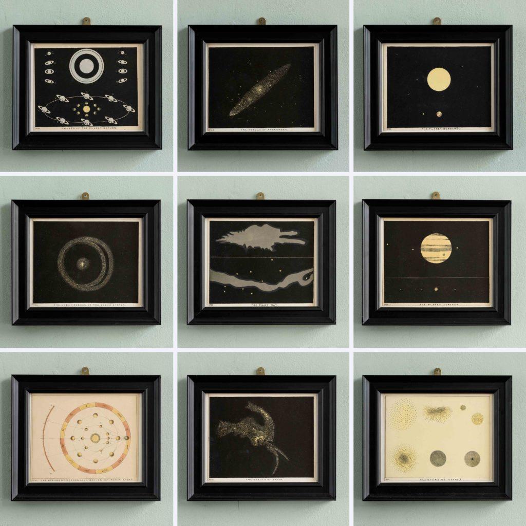 Original astronomy prints published 1843-104731