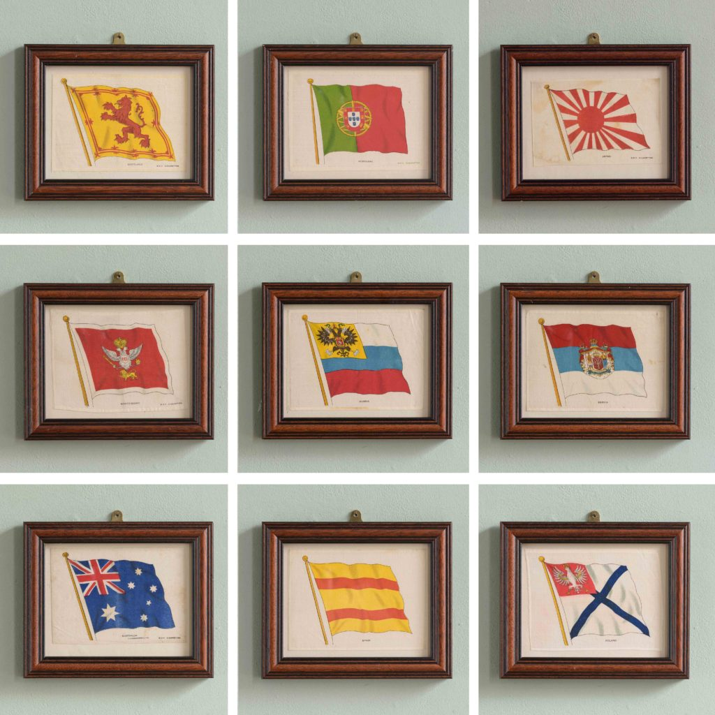 Silk Flags published circa 1918,-105220