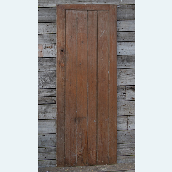 A pine outhouse door,-0