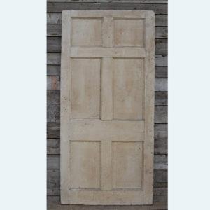 A six paneled pine door