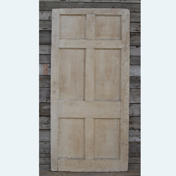 A six paneled pine door