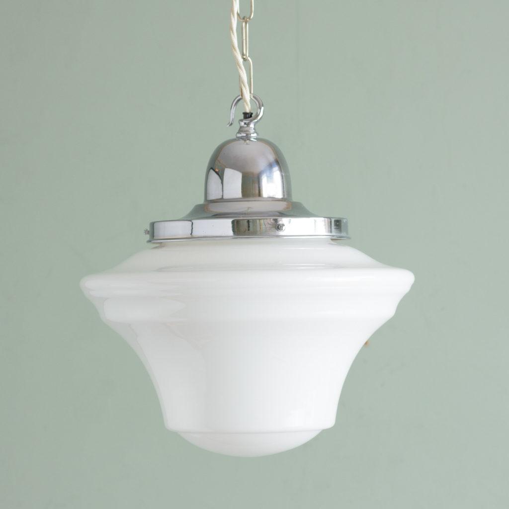 Edwardian opaline pendant lights,-0