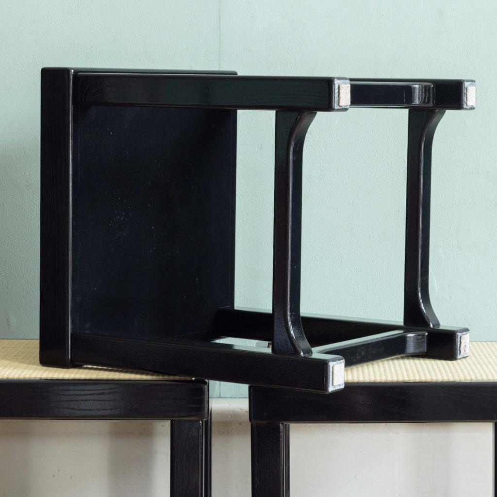Black lacquer stools,-105519