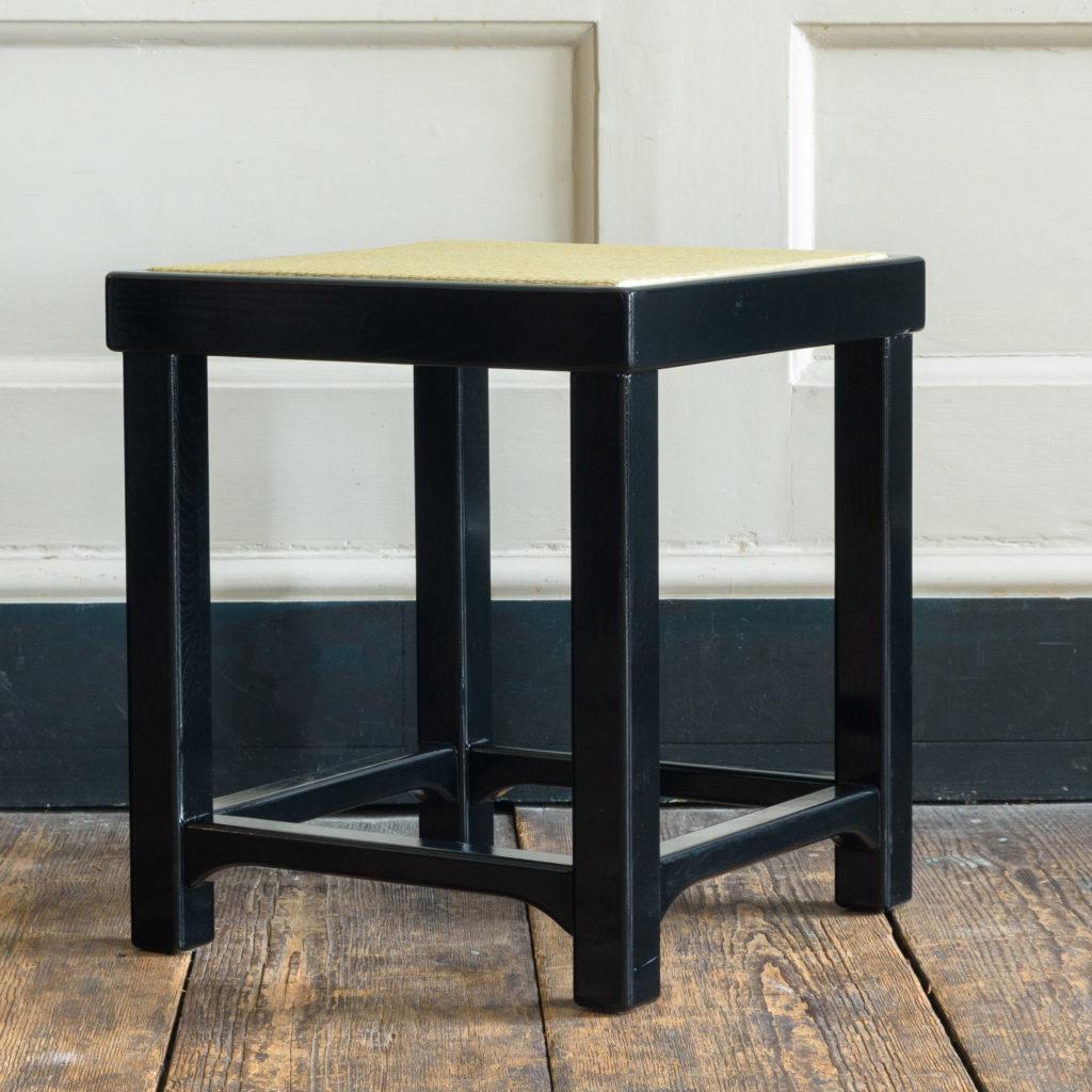 Black lacquer stools,-105520