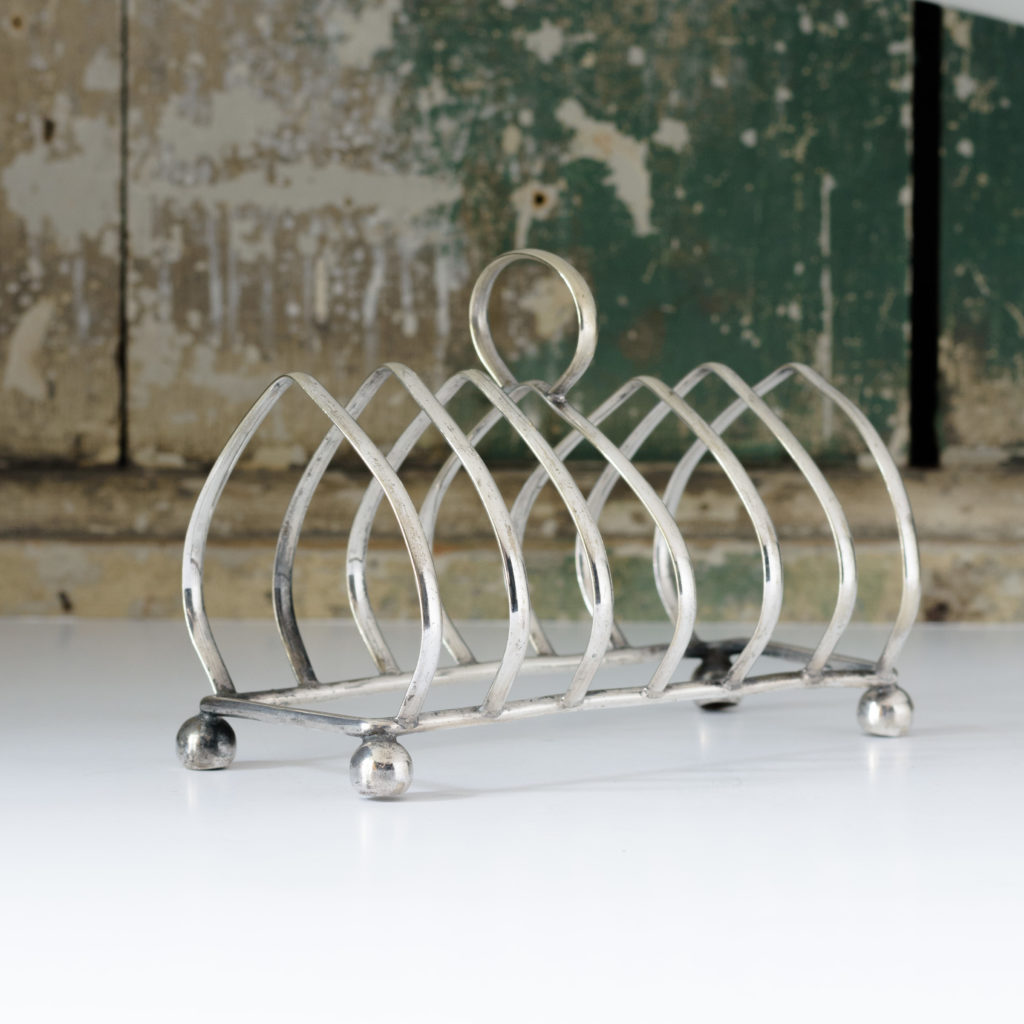 Silver plated toast rack,-107097
