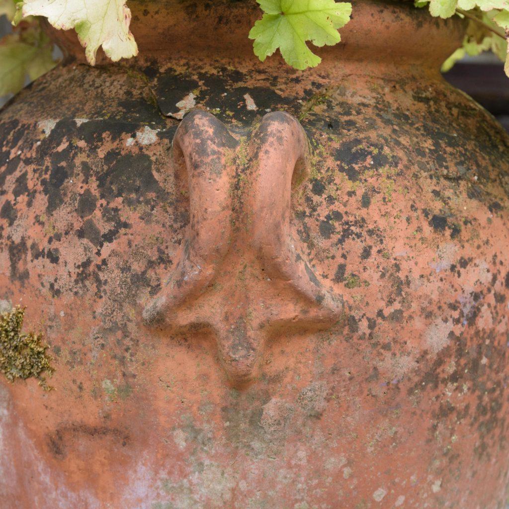 Small terracotta olive oil jar,-107083