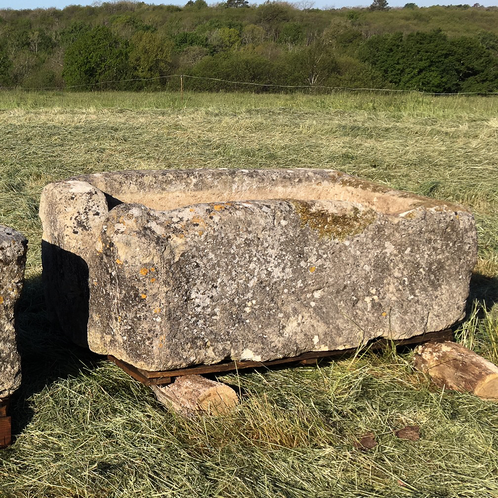 Large French limestone trough,-106785