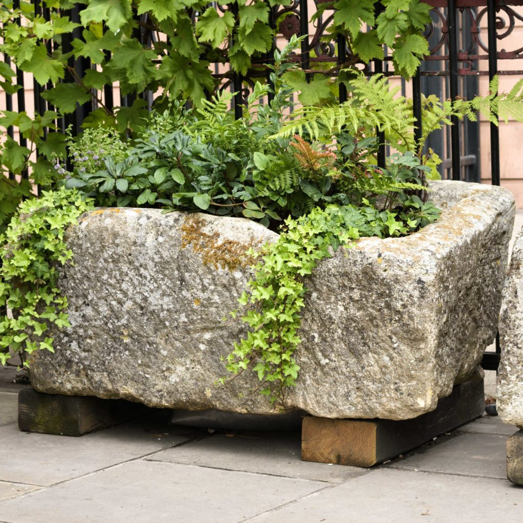 Large French limestone trough,-0