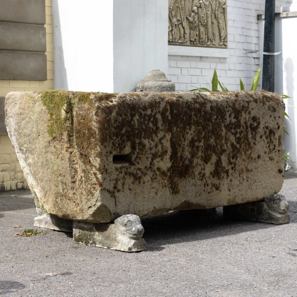 Substantial early nineteenth century stone trough,-107004