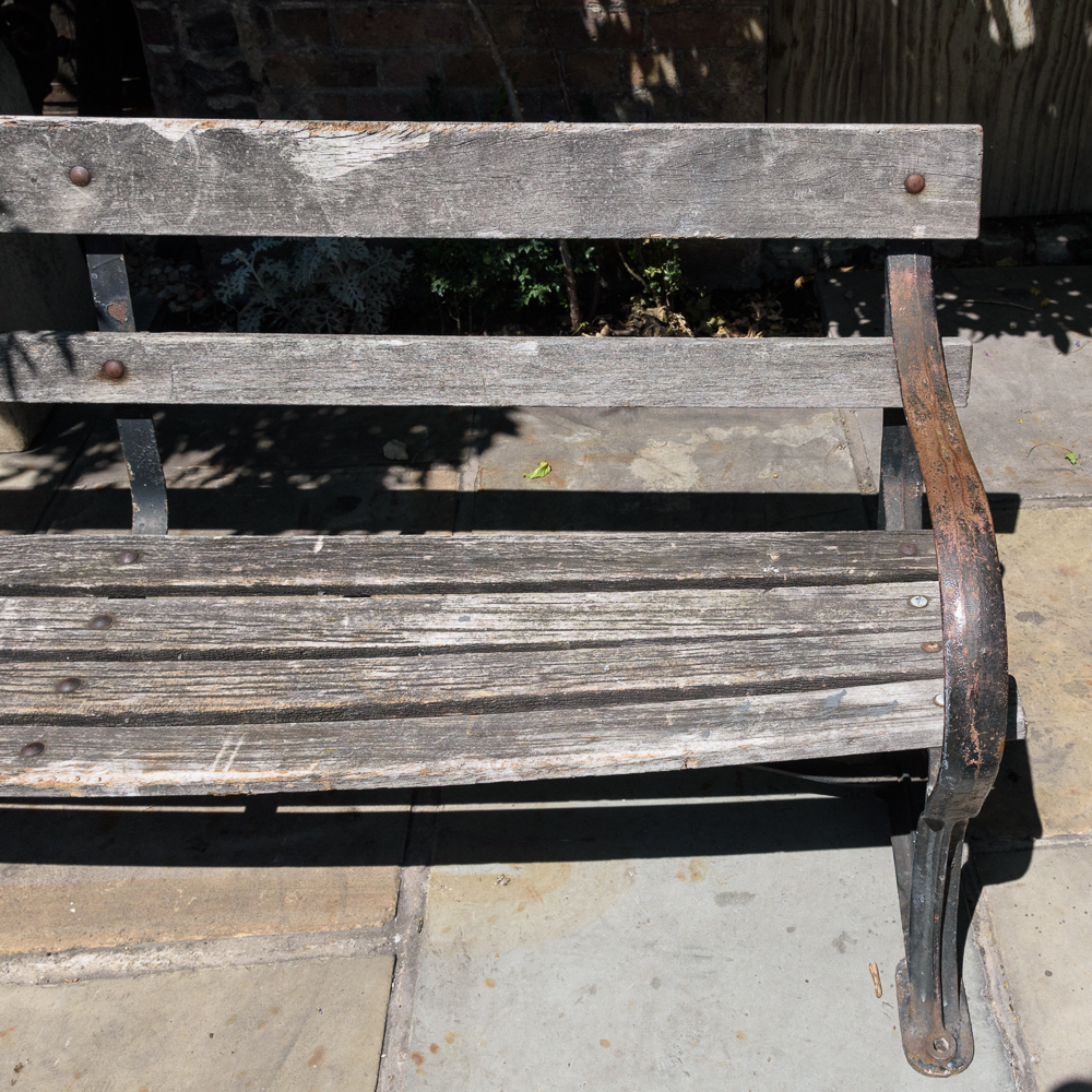Late nineteenth century cast iron park bench,-107056