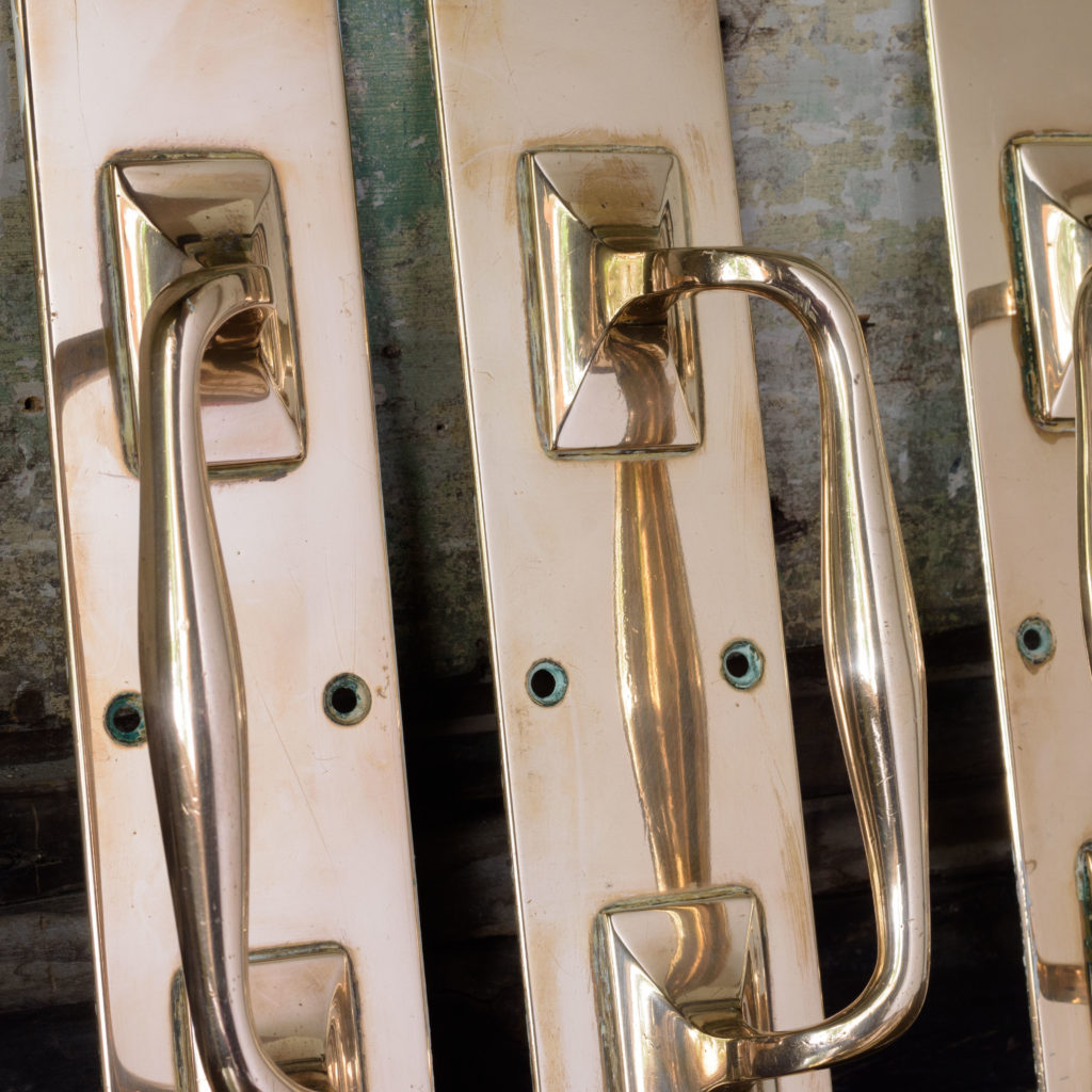 Pair of 1930's brass door pulls,-107750