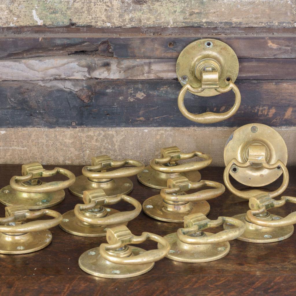 Georgian style brass door handles,-107761
