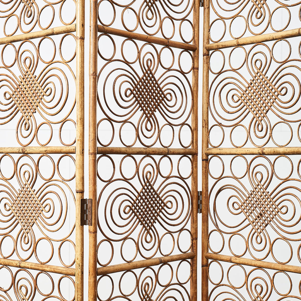 Antique rattan conservatory screen, -109013