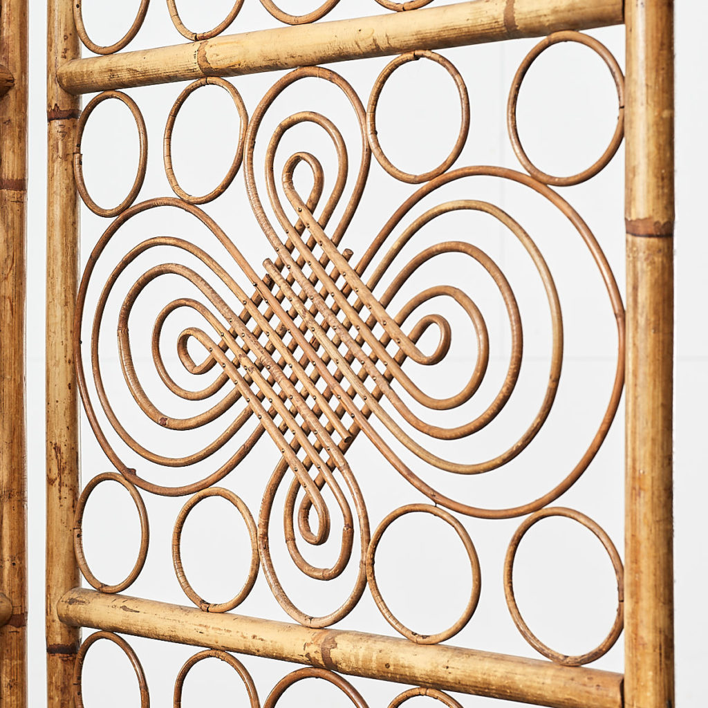Antique rattan conservatory screen, -109014