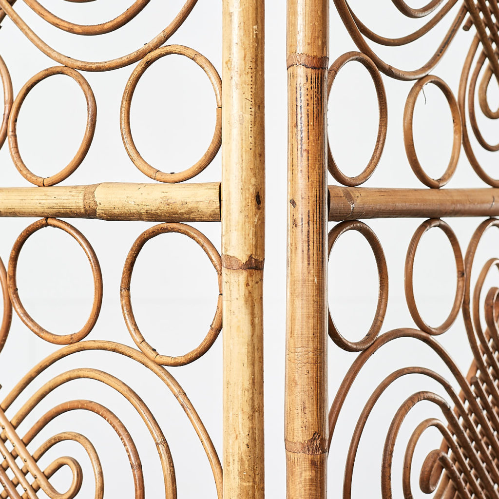 Antique rattan conservatory screen, -109018