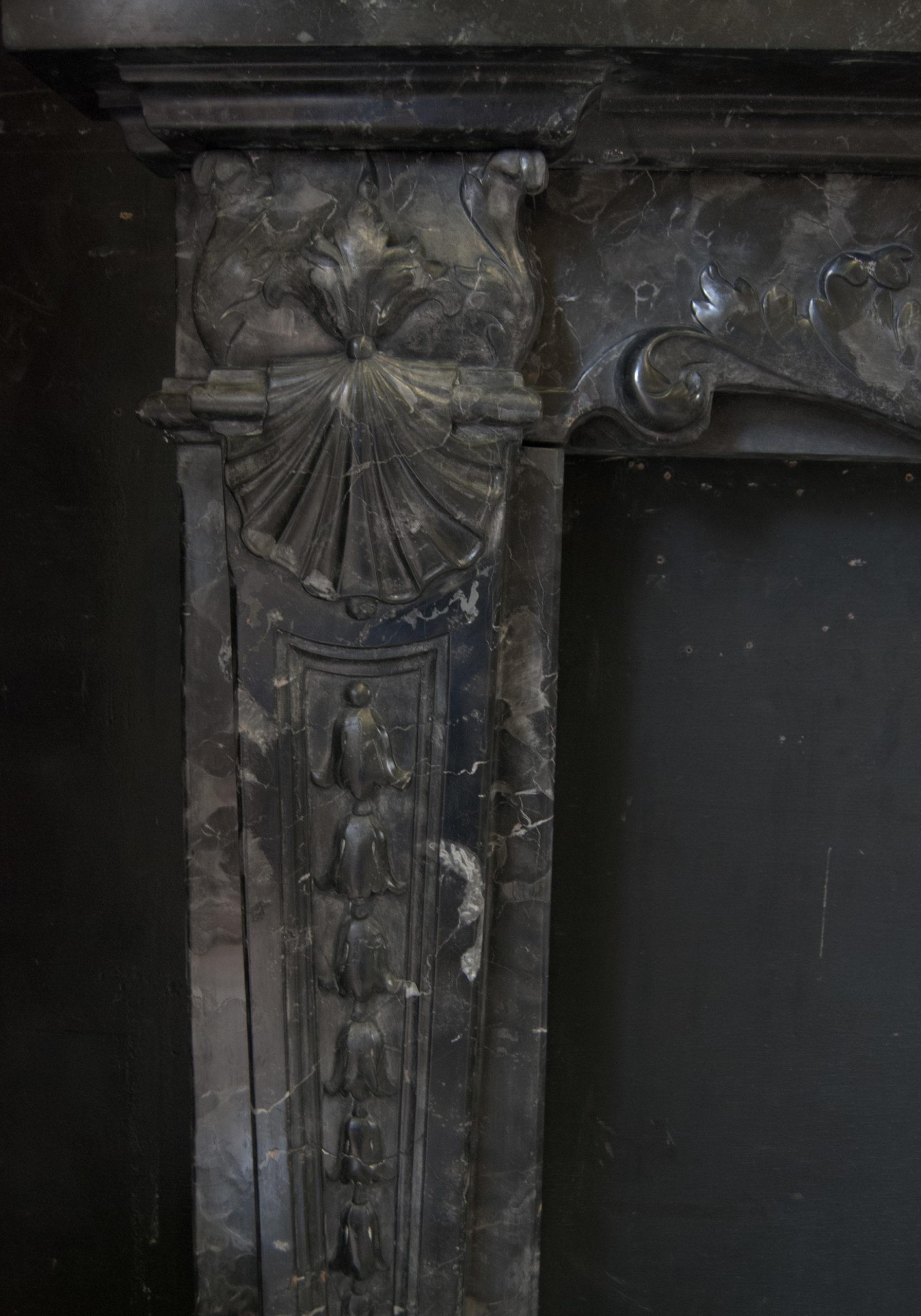 Antique Italian marble chimneypiece - detail