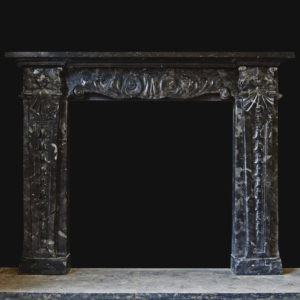Antique Italian marble chimneypiece